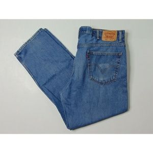 Levi's 550 Relaxed Fit 42 X 32 Blue Jeans Denim